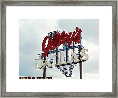 Framed Print featuring the photograph Gilleys Dallas by Charlie and Norma Brock