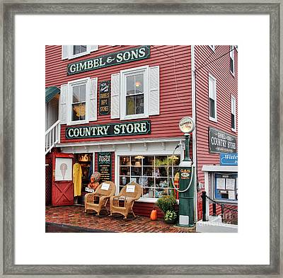 Gimbel And Sons Country Store Framed Print