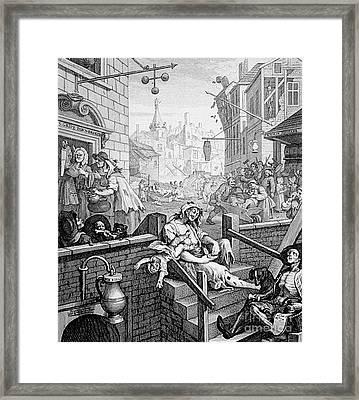 Gin Lane, William Hogarth Framed Print