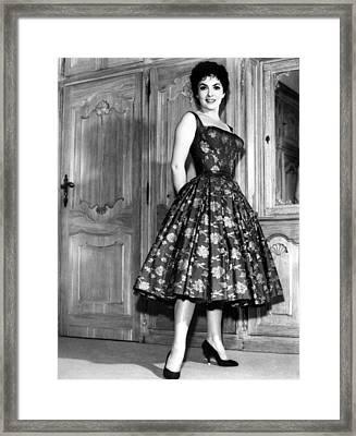 Gina Lollobrigida, 1950s Framed Print by Everett