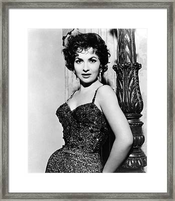 Gina Lollobrigida, Ca. 1956 Framed Print by Everett