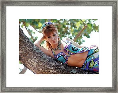 Gina Lollobrigida Wearing Pucci Design Framed Print