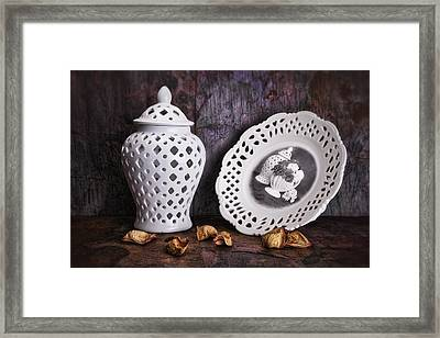 Ginger Jar And Compote Still Life Framed Print by Tom Mc Nemar
