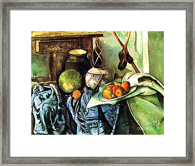 Ginger Jar And Eggplants Framed Print by Pg Reproductions