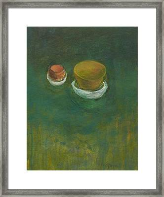 Framed Print featuring the painting Ginger Pot by Kathleen Grace