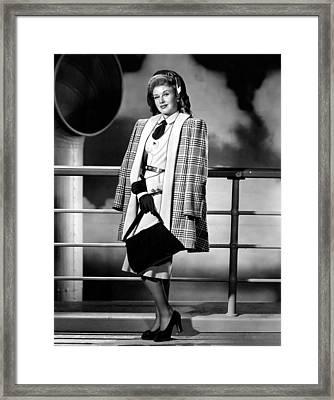 Ginger Rogers, In An Rko Portrait, C Framed Print by Everett