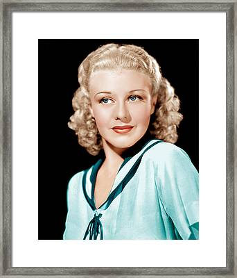 Ginger Rogers In Rko Publicity Framed Print by Everett