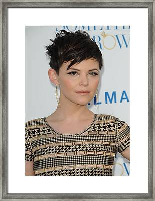 Ginnifer Goodwin At Arrivals Framed Print by Everett