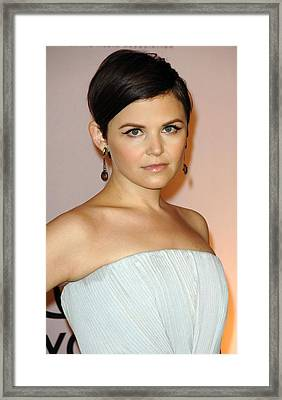Ginnifer Goodwin At Arrivals For 2009 Framed Print by Everett