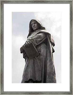Giordano Bruno, Italian Philosopher Framed Print by Sheila Terry