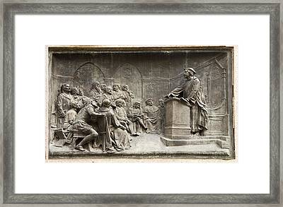 Giordano Bruno Teaching Framed Print by Sheila Terry