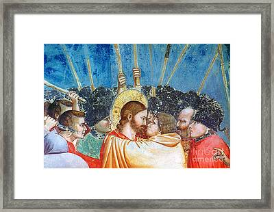 Giotto: Betrayal Of Christ Framed Print