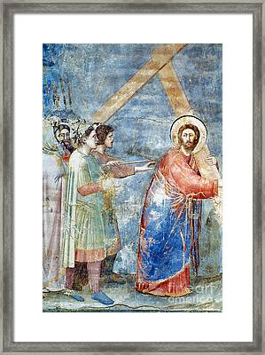 Giotto: Road To Calvary Framed Print