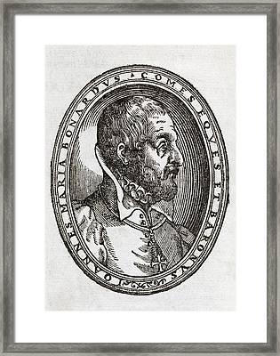 Giovanni Bonardo, Italian Author Framed Print