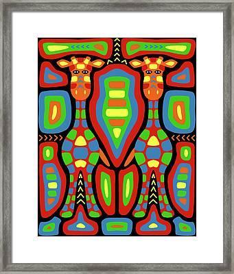 Giraffe Mola Framed Print