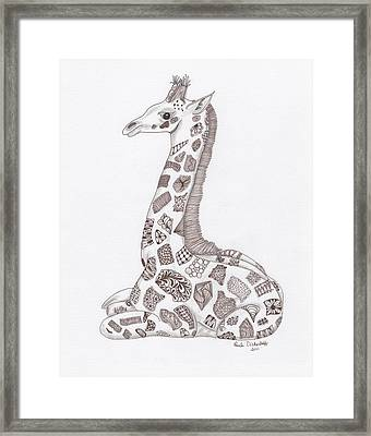 Giraffe Framed Print by Paula Dickerhoff