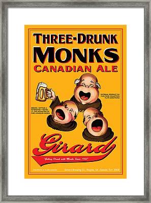 Girard Three Drunk Monks Framed Print by John OBrien