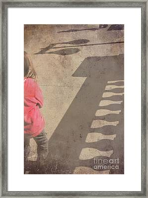 Girl And Shadows Framed Print by Jim Wright