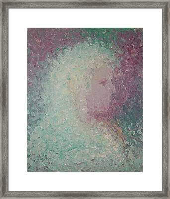 Framed Print featuring the painting Girl by Angela Stout