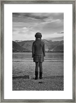 Girl At A Lake Framed Print by Joana Kruse