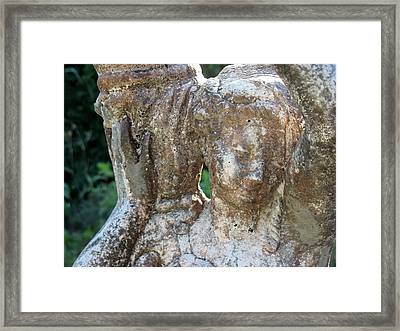 Girl Carrying Jug Framed Print by Kimberly Mackowski