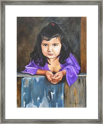 Framed Print featuring the painting Girl From San Luis by Lori Brackett