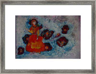 Girl From Shiraz Framed Print