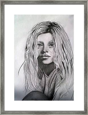 Girl I Framed Print by Paula Steffensen