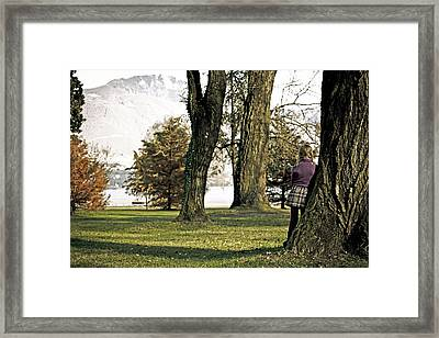 Girl In Autumn Framed Print by Joana Kruse