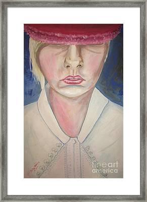 Girl In Red Hat Framed Print