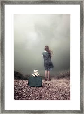 Girl In The Dunes Framed Print