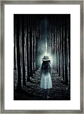 Girl In The Forest Framed Print by Joana Kruse