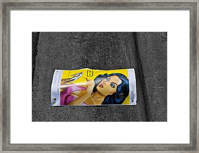 Girl In The Street Framed Print by Bennie Reynolds