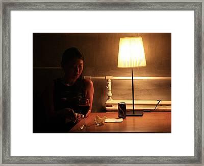 Girl In The Tango Hall Framed Print