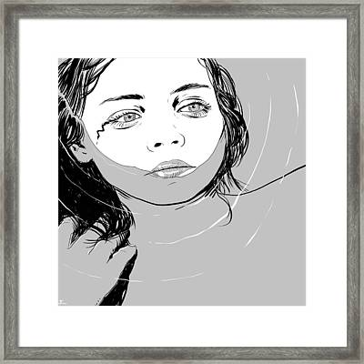 Girl In The Water Framed Print