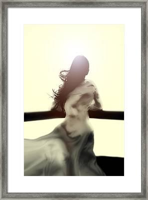 Girl In White Dress Framed Print