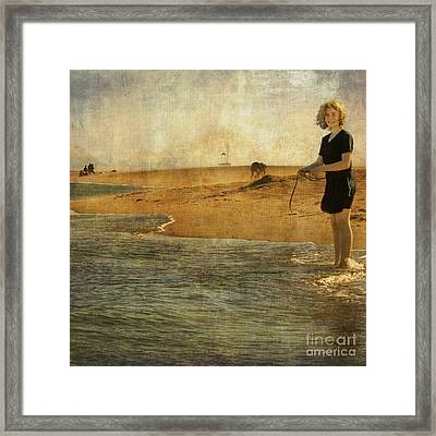 Girl On A Shore Framed Print by Paul Grand