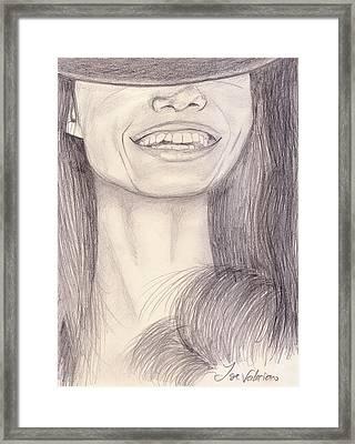 Girl Smiling Framed Print