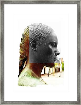 Girl Statue Framed Print by Steve K