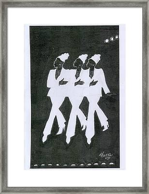 Girl Trio Framed Print by Rhetta Hughes
