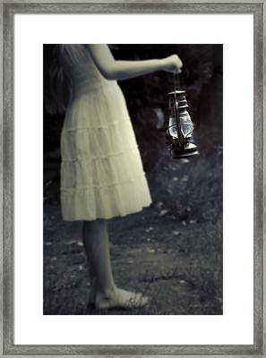 Girl With An Oil Lamp Framed Print by Joana Kruse