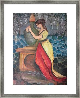 Girl With Fire Framed Print by Muhammed Mudassir