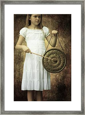 Girl With Gong Framed Print by Joana Kruse