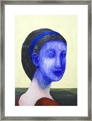 Girl With No Face Framed Print by Kazuya Akimoto