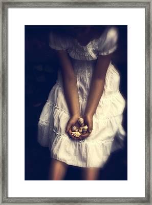 Girl With Sea Shells Framed Print