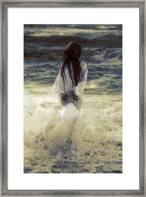 Girl With Teddy Framed Print