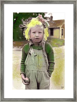 Girl With The Golden Blonde Hair Framed Print by Charles Shoup