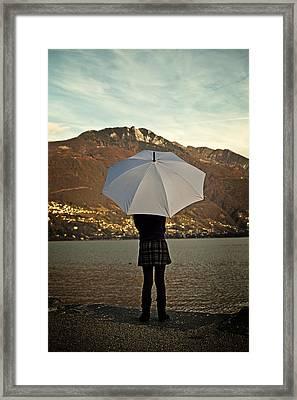 Girl With Umbrella Framed Print by Joana Kruse