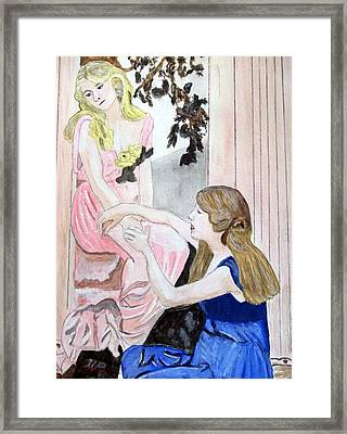 Girlfriend's Number One Framed Print by Cathy Jourdan