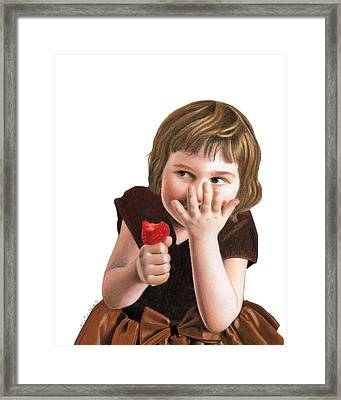 Framed Print featuring the painting Girlish Giggles by Ana Tirolese